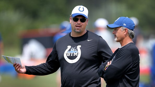 Indianapolis Colts general manage Ryan Grigson and