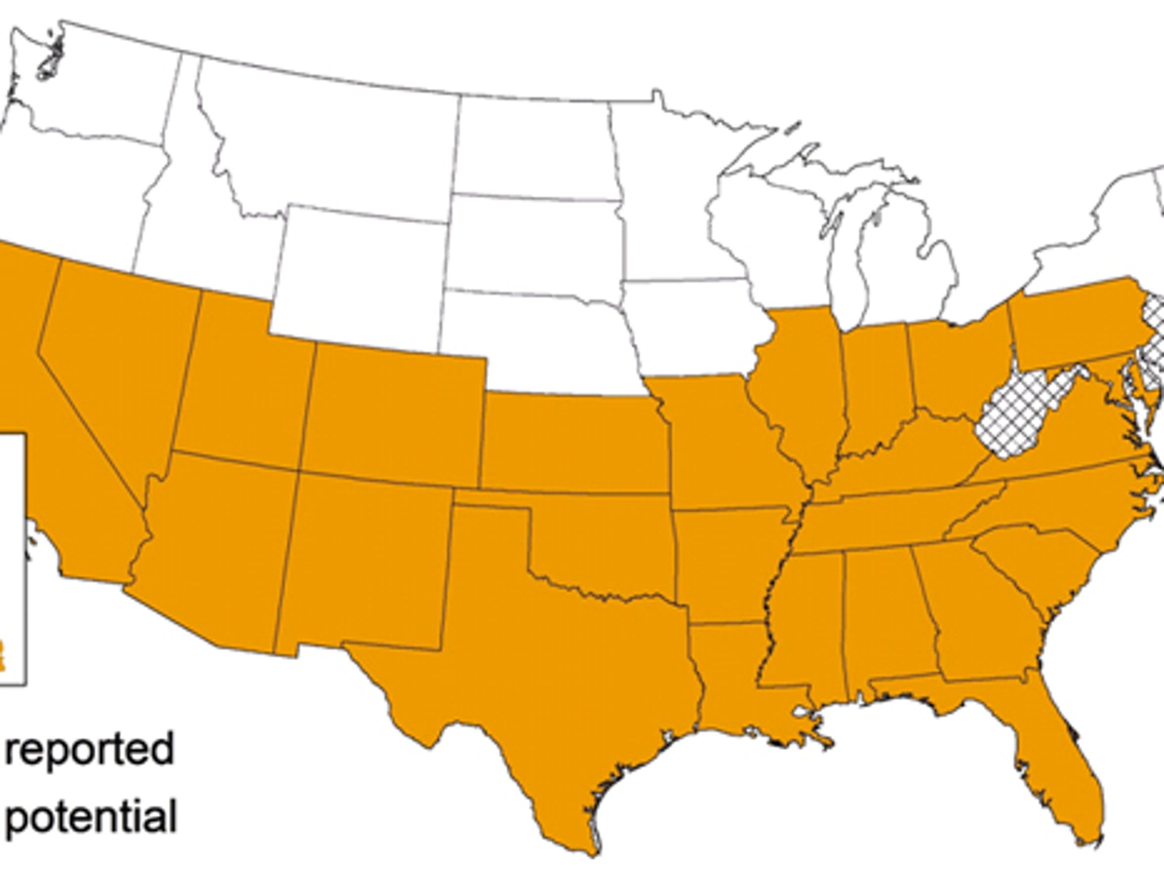 The kissing bug has been found in 27 states in the