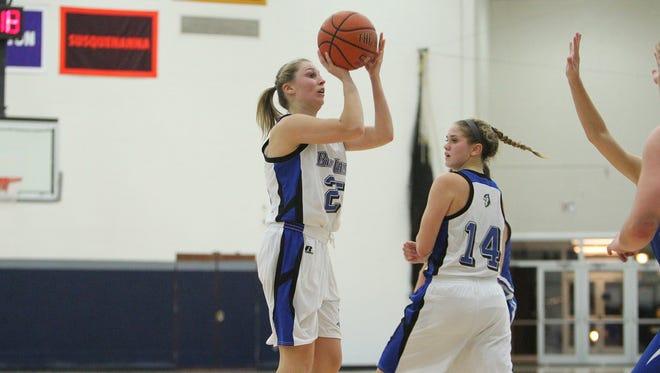 York Catholic grad Rachel Forjan is enjoying a strong season for Elizabethtown College.