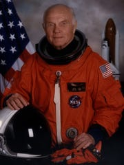 John Glenn photographed in May 1998, died on Dec. 8, 2016.