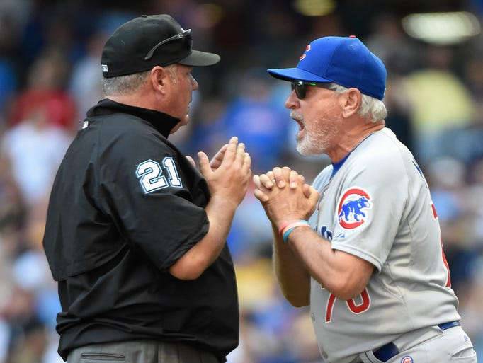 Aug. 2: Cubs manager Joe Maddon got tossed for arguing
