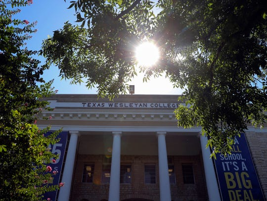 A general view of a building at Texas Wesleyan University,