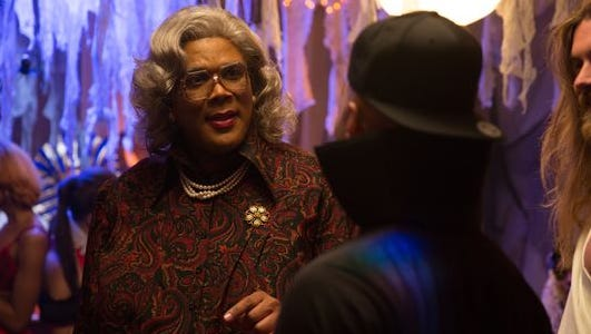 Madea (Tyler Perry) and Horse (Brock O'Hurn) in 'Boo! A Madea Halloween.'