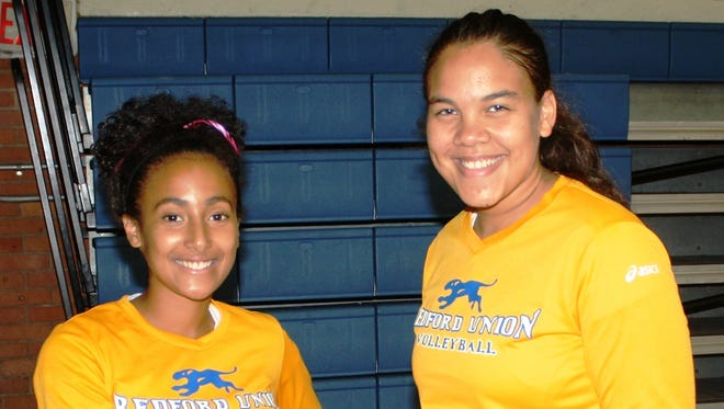 Redford Union's Shae Smith (left) and Renee Reed will serve as the Panthers' basketball captains, just like they did during volleyball season.