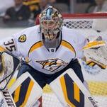 Nashville Predators goalie Pekka Rinne.