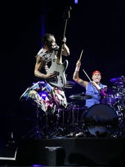 Flea of the Red Hot Chili Peppers takes flight on Oct.