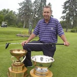 John Jawor is excited to host his first major tournament – the 104th Michigan Amateur – as head professional at Plum Hollow Country Club in Southfield. The two trophies are awarded to the stroke play medalist and Amateur champion.