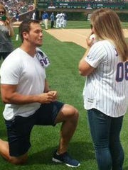 Andrew East proposes to Shawn Johnson on Friday at