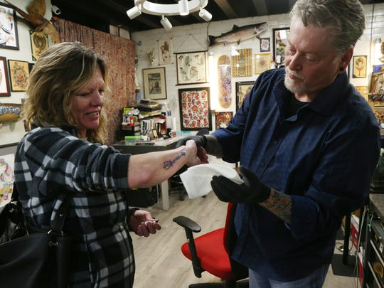 Frank Scalzo, owner of Millennium Tattoo in Newburgh