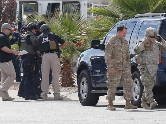 The El Paso Police Bomb Squad and other agencies were