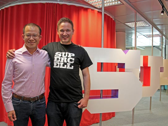 Martin Lau, President of Tencent, and Ilkka Paananen,