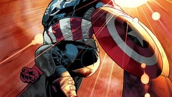 """This photo released by Marvel shows superhero Sam """"The Falcon"""" Wilson. Captain America will be an African-American. Marvel Comics' chief creative officer Joe Quesada says superhero Sam """"The Falcon"""" Wilson will take over as the patriotic Avenger in an upcoming installment of the long-running comic book series."""