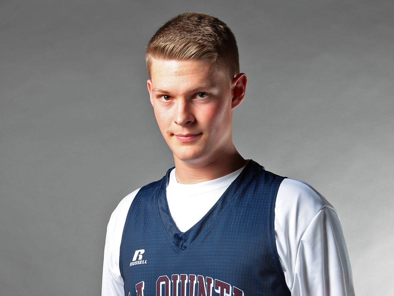 La Quinta basketball player senior Jared Broadhead, photographed on Wednesday, March 4, 2015, averaged 15 points, eight rebounds, and five assists per game this season and helped lead the Blackhawks to a Desert Valley League championship.