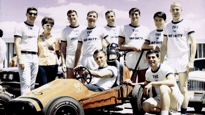 Pictured are participants of The Infinity team during the first annual race in 1967.
