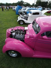 A 1937 Ford is displayed at last year's Anthony Amoros