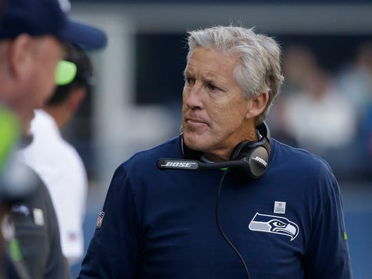 Coach Pete Carroll and the Seahawks have aggressively pursued player acquisitions to shore up weaknesses this season.