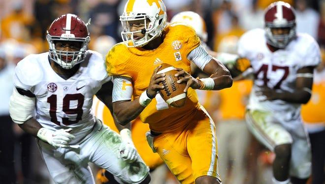 Tennessee quarterback Josh Dobbs.