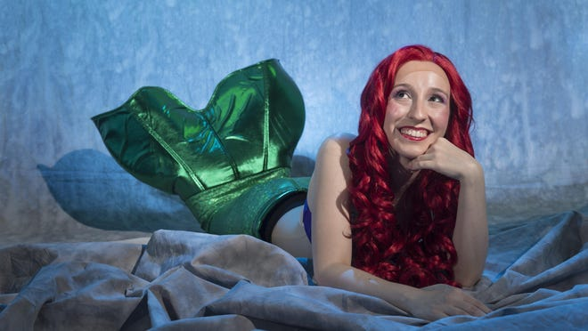 """Haleigh Cook is Ariel in Theater Arts Alliance's production of """"The Little Mermaid."""" Photo taken on Tuesday, October 25, 2016."""