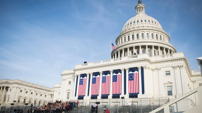 The west front of the Capitol: Final preparations were underway on Thursday for the inauguration of President-elect Donald J. Trump.