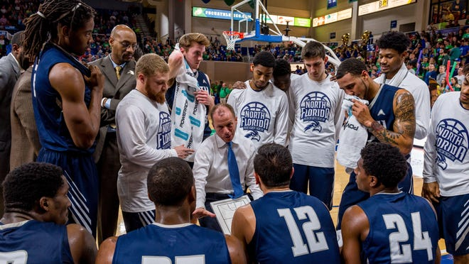 UNF coach Matthew Driscoll has led his third-seeded team to six wins in its last eight games and three in a row, including Thursday's upset win at second-seeded Lipscomb, since falling, 74-59, at FGCU.
