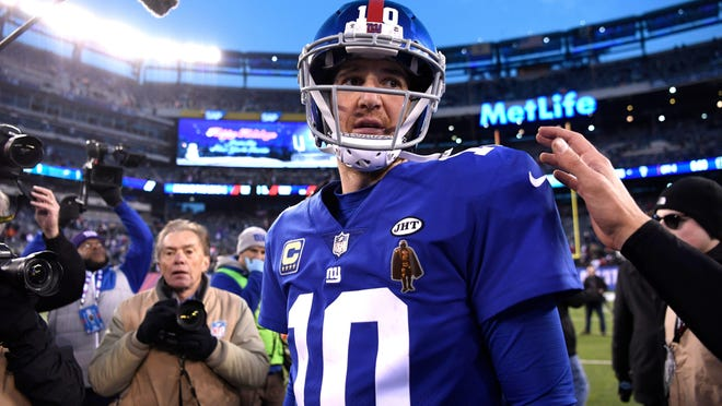 Quarterback Eli Manning could be playing his final game for the Giants on Sunday. Danielle Parhizkaran/Northjersey.com Eli Manning