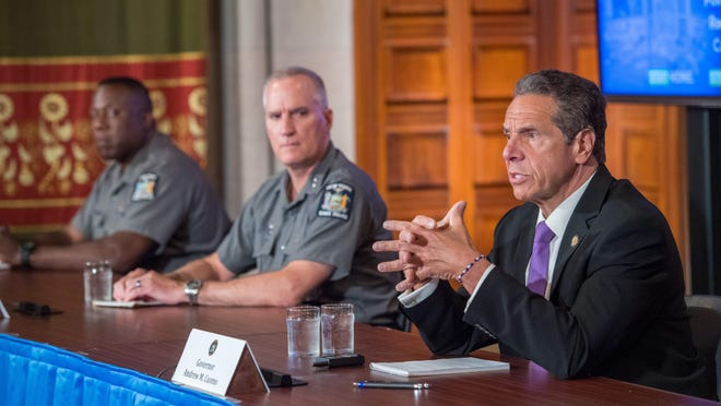 Gov. Andrew Cuomo held a press briefing June 2 2020, amid coronavirus and civil unrest in cities across the state after George Floyd death while being apprehended by Minneapolis Police early last week.