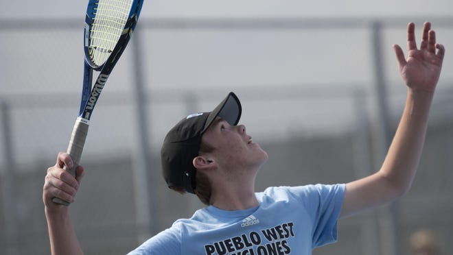 Pueblo West High School senior Brendan Bradfield is the team's No. 1 singles player and team captain for the second consecutive year.