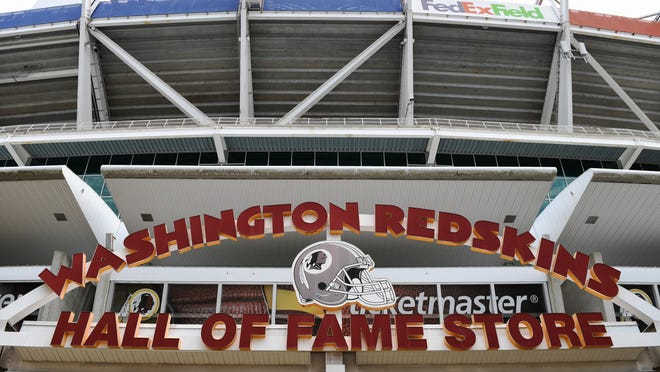 There will be a new sign coming at the souvenir shop at FedEx Field.