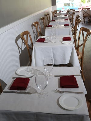 A view of the dining room at the Appetit Bistro in Port Chester.