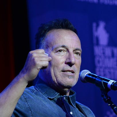 Bruce Springsteen, pictured here in New York, delivered
