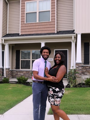 From left, Markà and Ja'Mesha Manning recently purchased an 1,175-square-foot townhome in the Old Hickory Commons subdivision in Antioch. The mortgage payment is less than the monthly rent for their old 800-square-foot apartment.