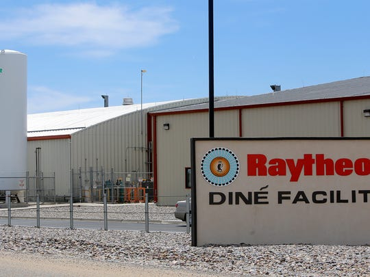Raytheon Missile Systems' soon-to-expanded Dine facility is pictured on Friday south of Farmington.