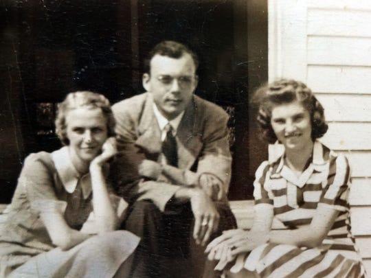 In 1941, teacher Kathryn Weaver Glenn, right, joined