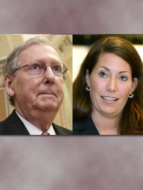 U.S. Sen. Mitch McConnell, Ky. Secretary of State Alison Lundergan Grimes