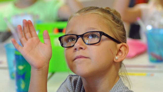 First grader Lilly at Ralph M. Williams Elementary in Viera .