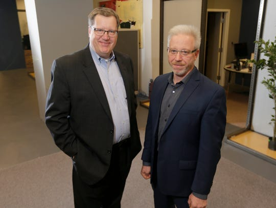 Mark Wiesman (left), chief operating officer, and Eric