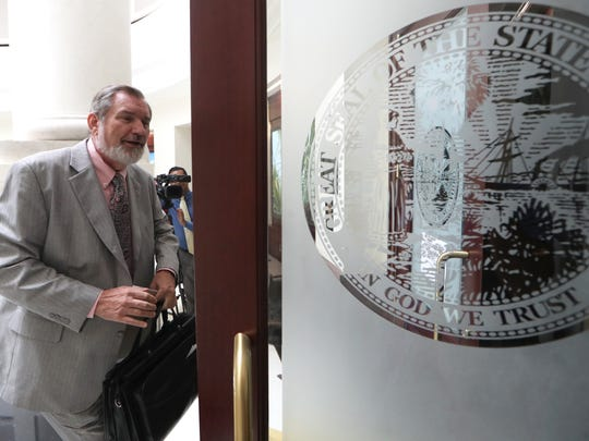 Erwin Jackson, a persistent critic of City Hall, attends a probable cause hearing Friday on whether former City Manager Rick Fernandez violated state ethics laws. The Florida Commission on Ethics found probable cause that he did.