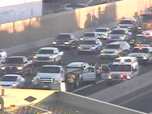 A man has been taken to the hospital from an accident on the I-17 near the Bethany Home Road off ramp.