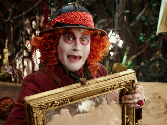 Johnny Depp reprised his role as the crazed Hatter