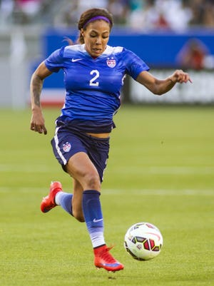 United States' Sydney Leroux was traded from Seattle to the Western New York Flash in March, with the Reign getting the rights to Abby Wambach after Wambach announced she wouldn't play for the Flash this season.