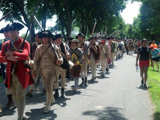A military re-enactment at Fort Ticonderoga.