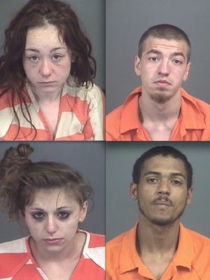Top row, from left: Savannah Haley and Dillon McMullen. Bottom: Angelina Bonasera and Nelson Dejesus