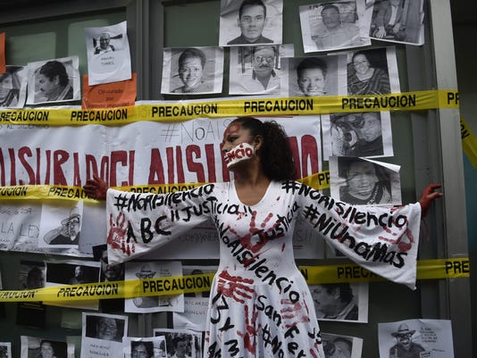 MEXICO-CRIME-JOURNALIST-VALDEZ-PROTEST
