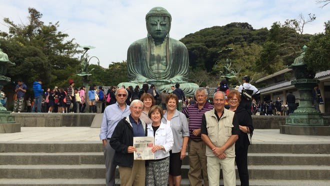 John and Arlene Leisen with the Times and Al and Doreen Kern, Karol and Denny Ringsmuth and Bruce and Diane Gohman on their 20-day trip to Asia.