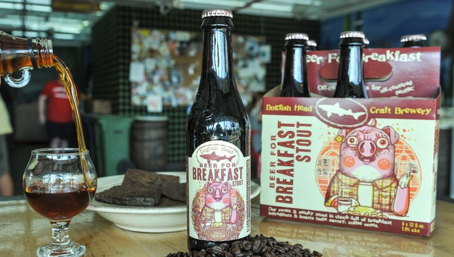 When Dogfish Head comes to BrewVino in Dover on Tuesday, it'll be bringing its Beer for Breakfast with it.