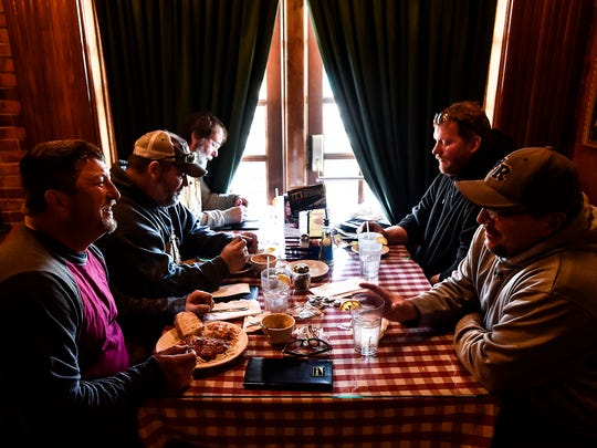 Customers enjoy their lunch break eating at The Warehouse on Center Street. Marion's premium Italian restaurant is celebrating its 22nd year in business.