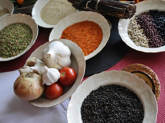 A variety of fresh ingredients are key to Ghanaian cooking.