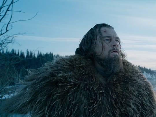 "Leonardo DiCaprio as Hugh Glass in a scene from ""The"