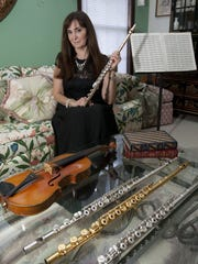 Michele Spadaro, a Toms River flutist, offers live
