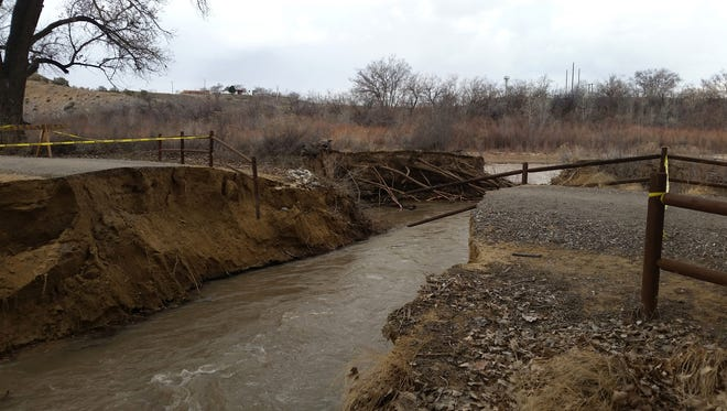 The Among the Waters river trail in southwest Farmington is temporarily closed because of water damage.